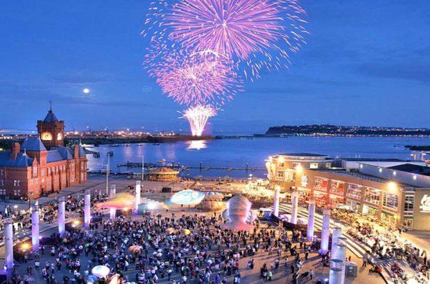 Cardiff Bay Firework Show